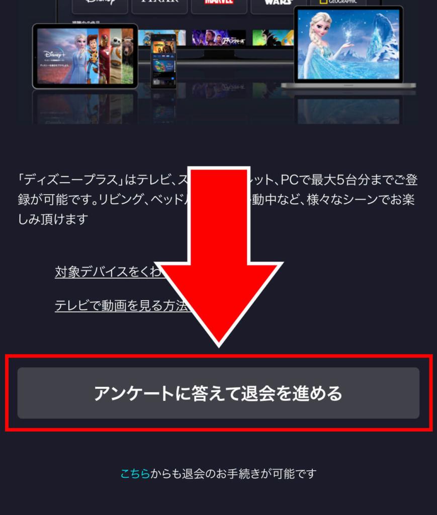 ディズニープラス(Disney+)退会・解約_10